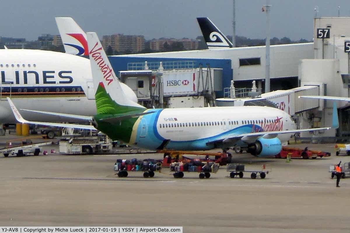 YJ-AV8, 2016 Boeing 737-8SH C/N 42052, At Mascot