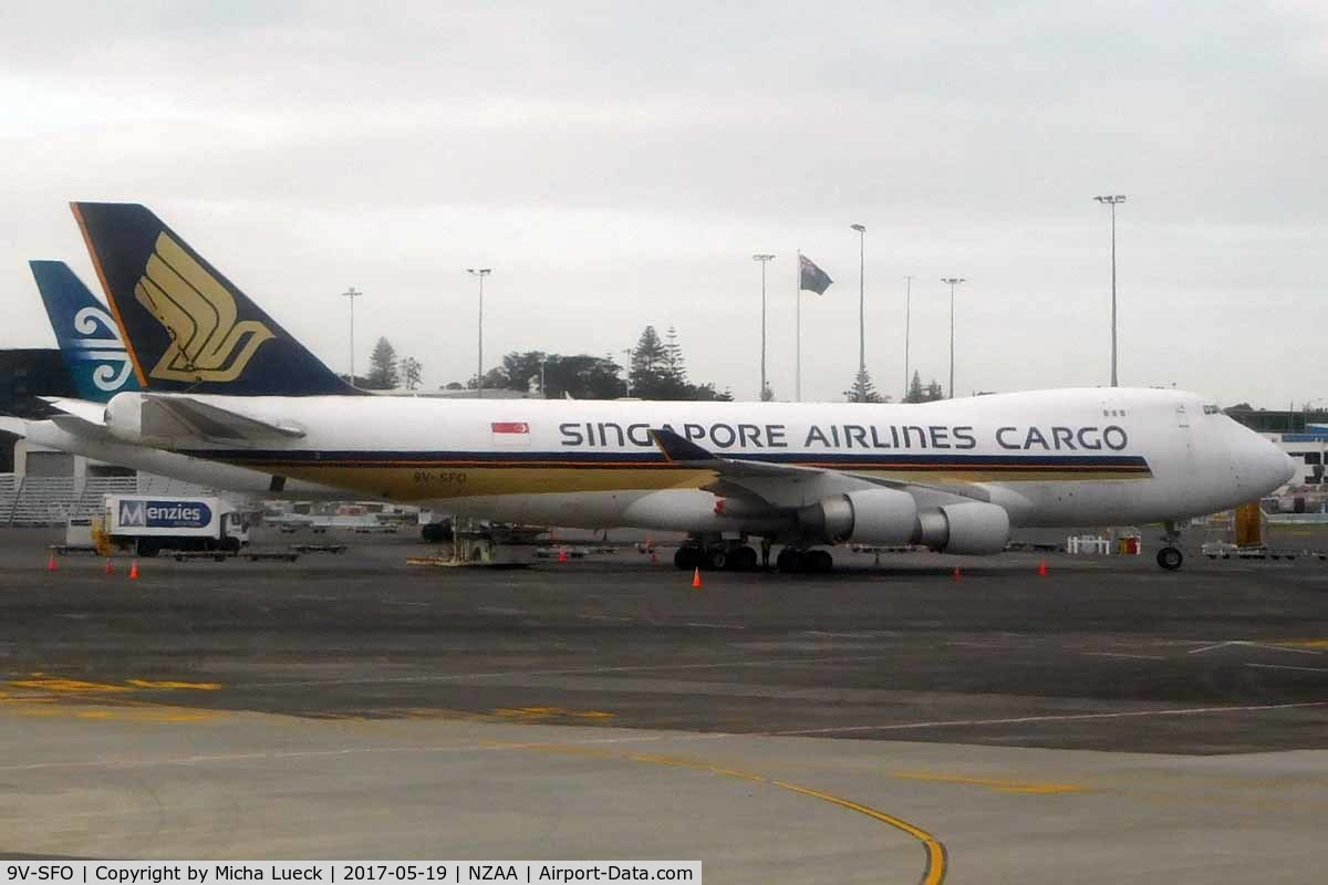 9V-SFO, 2004 Boeing 747-412F/SCD C/N 32900, At Auckland