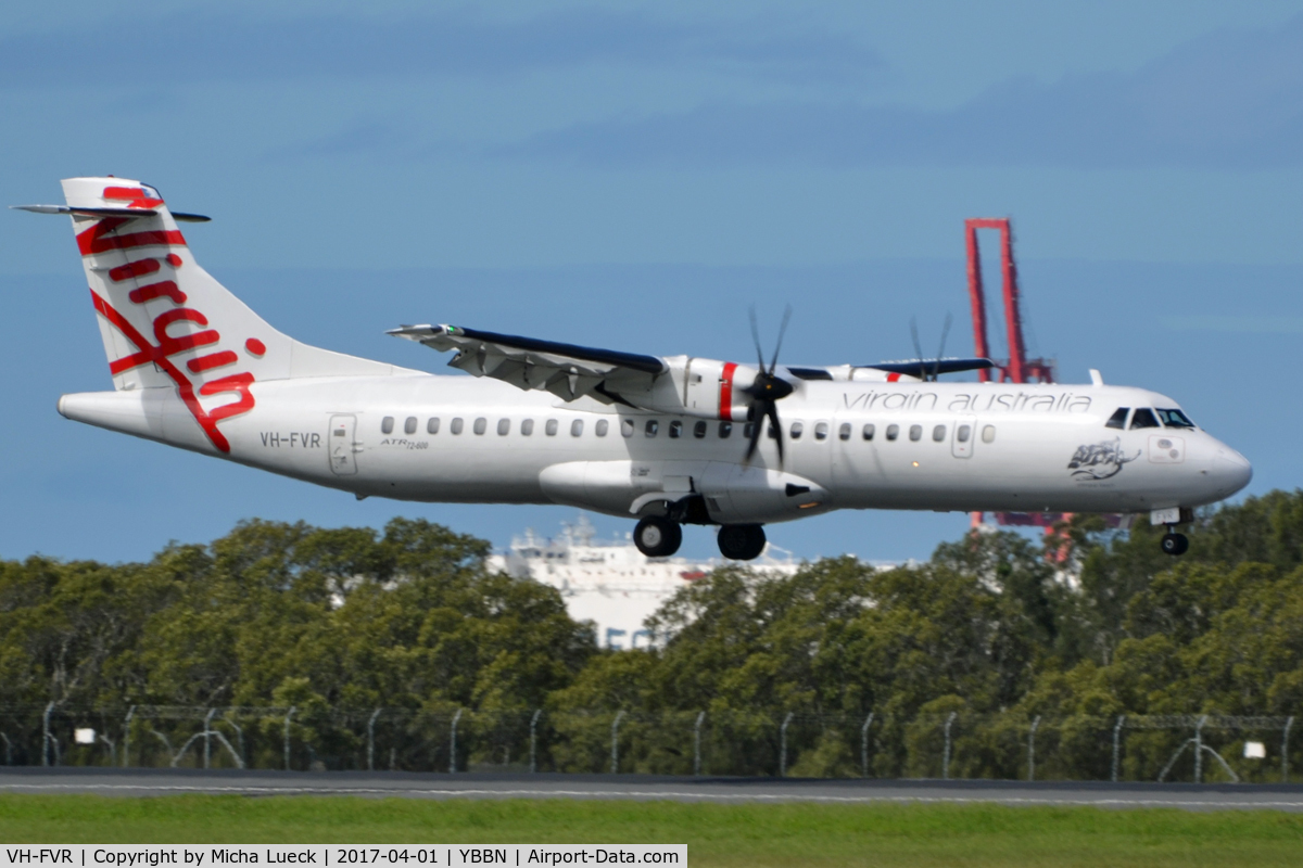 VH-FVR, 2012 ATR 72-600 C/N 1058, At Brisbane