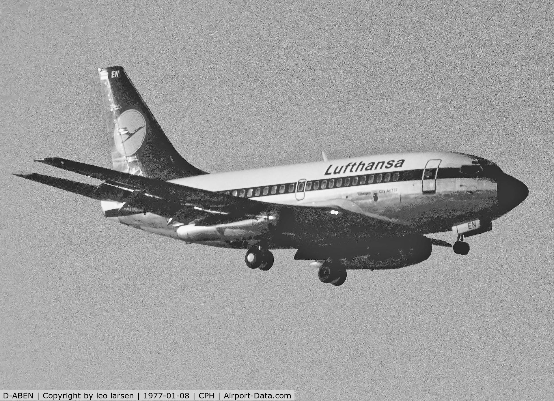 D-ABEN, 1968 Boeing 737-130 C/N 19024, Copenhagen 8.1.1977