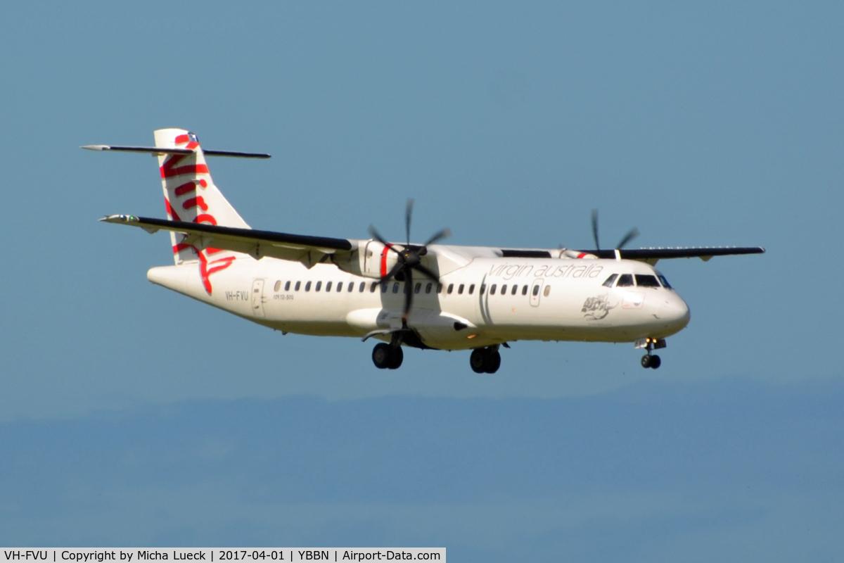 VH-FVU, 2011 ATR 72-500 C/N 978, At Brisbane