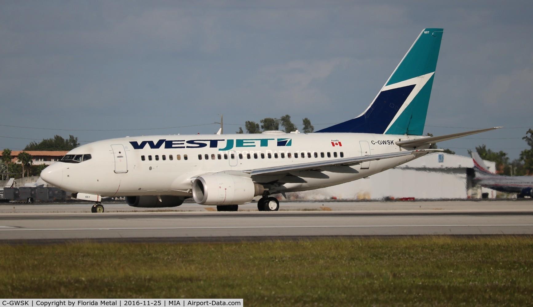 C-GWSK, 2006 Boeing 737-6CT C/N 34287, West Jet