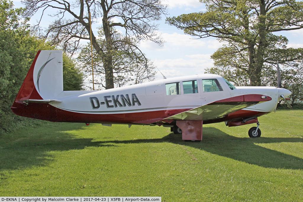 D-EKNA, 1967 Mooney M20F Executive C/N 67-0297, Mooney M20F at Fishburn Airfield UK. April 23rd 2017.