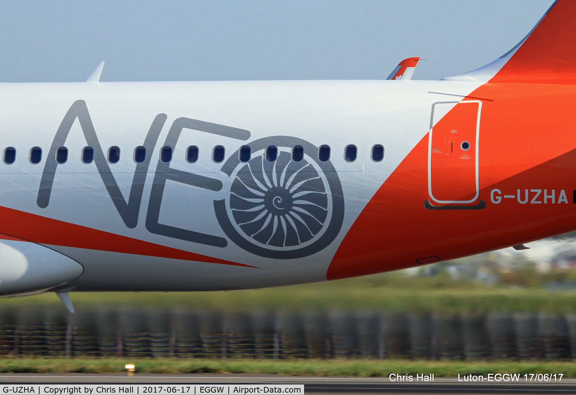 G-UZHA, 2017 Airbus A320-251NEO C/N 7649, easyJets 1st A320NEO on its 1st commercial flight