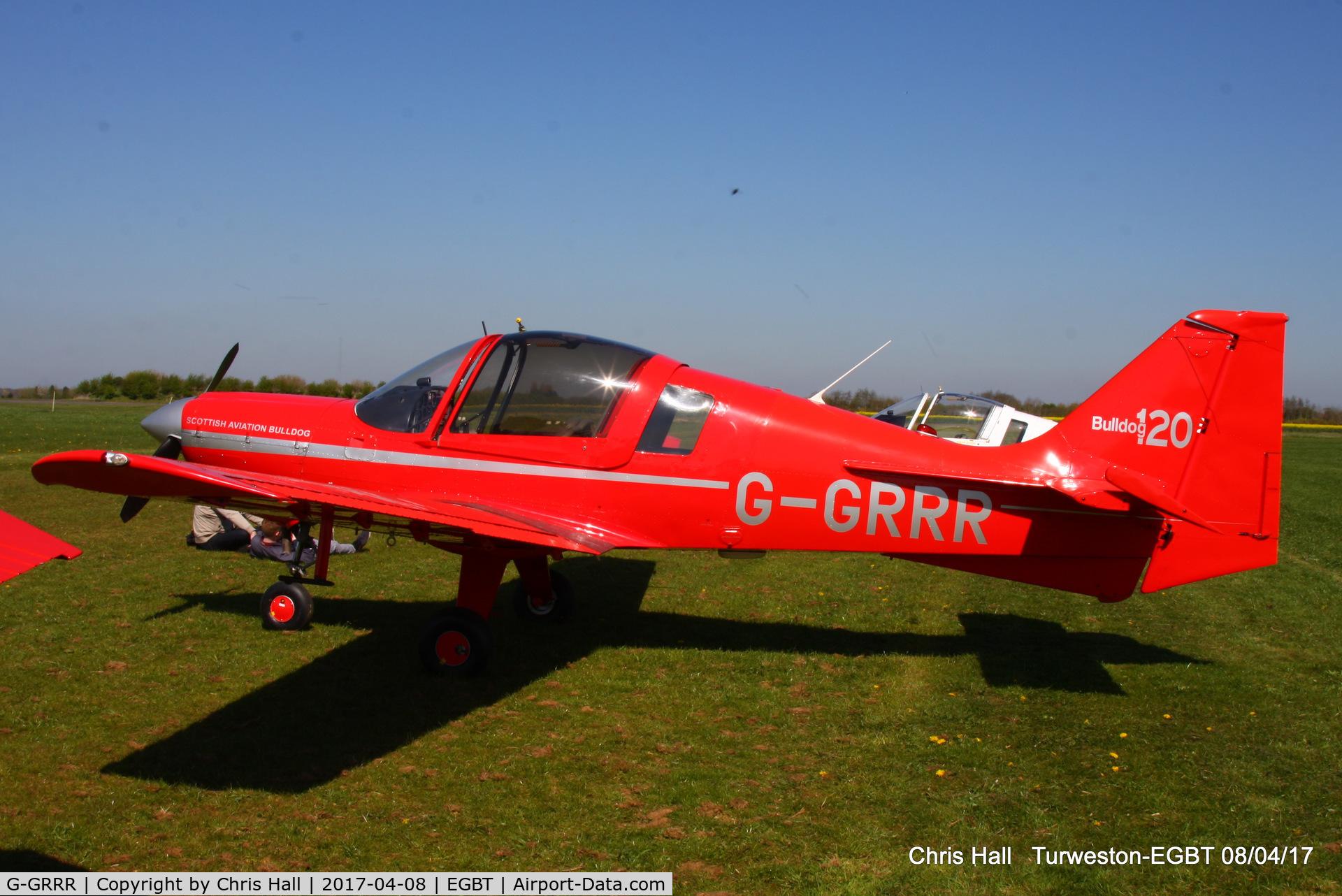 G-GRRR, 1973 Scottish Aviation Bulldog Series 120 Model 122 C/N BH120/229, at The Beagle Pup 50th anniversary celebration fly in