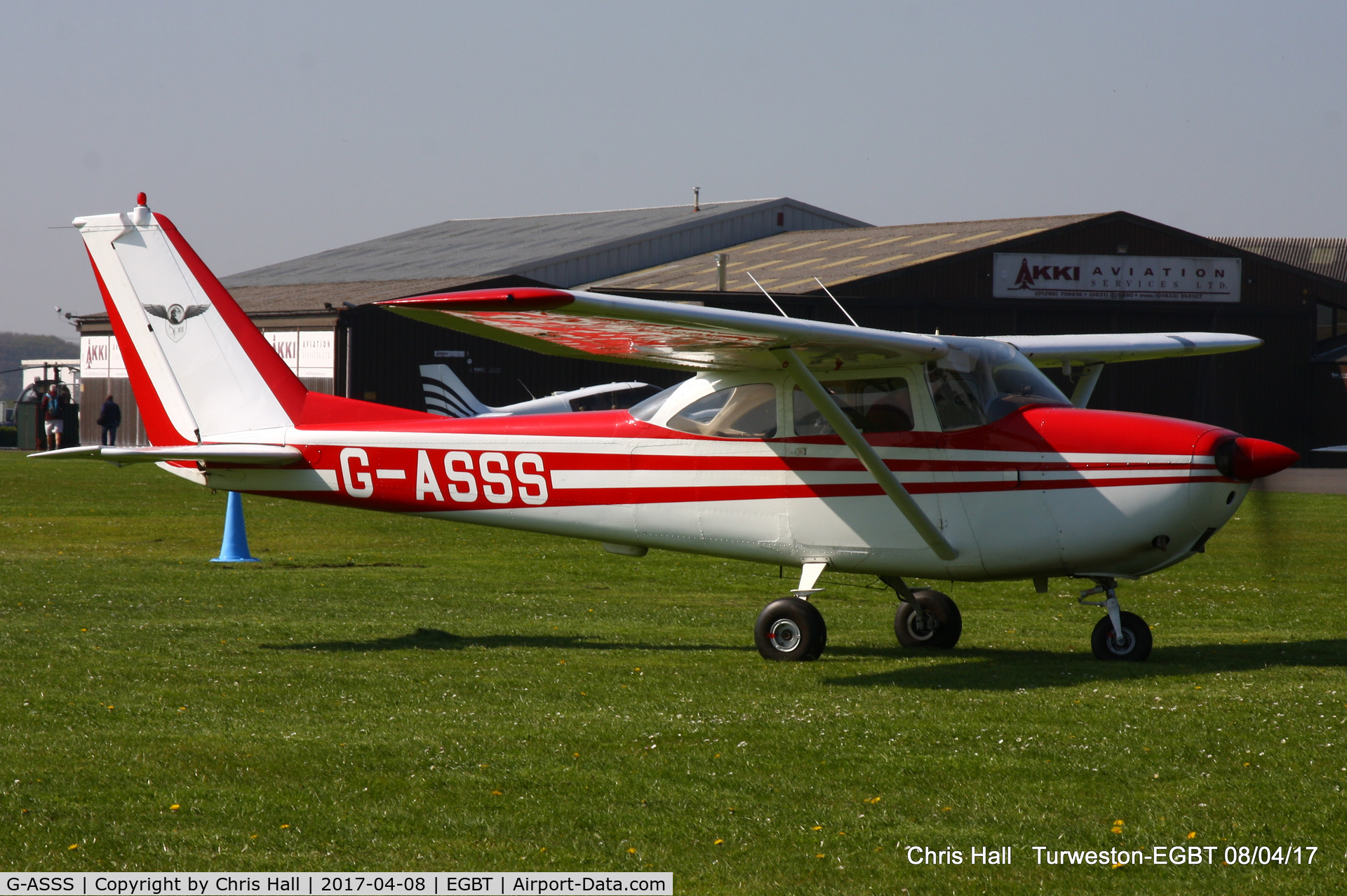G-ASSS, 1964 Cessna 172E Skyhawk C/N 172-51467, at The Beagle Pup 50th anniversary celebration fly in