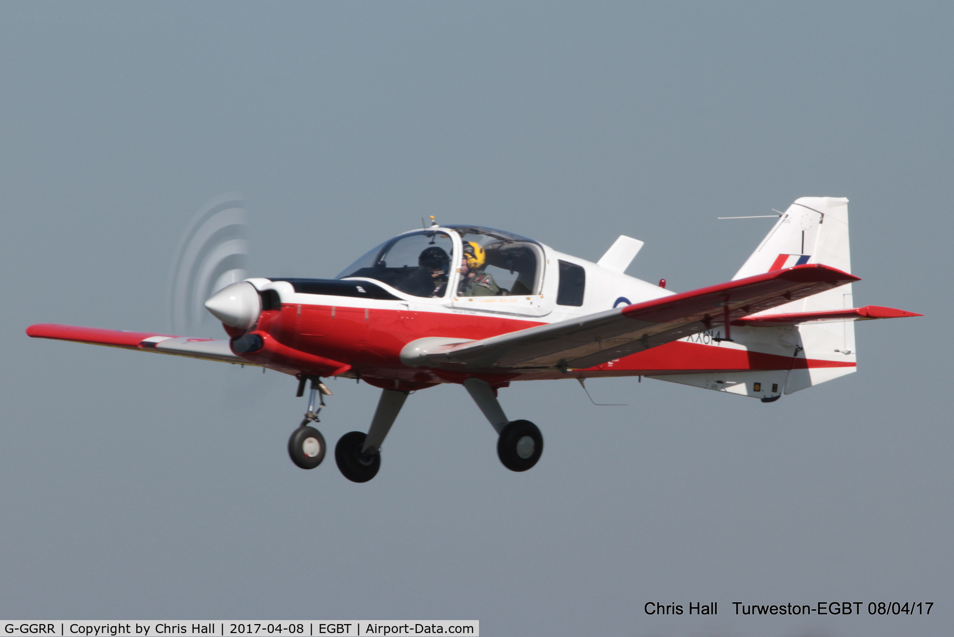 G-GGRR, 1974 Scottish Aviation Bulldog T.1 C/N BH120/272, at The Beagle Pup 50th anniversary celebration fly in