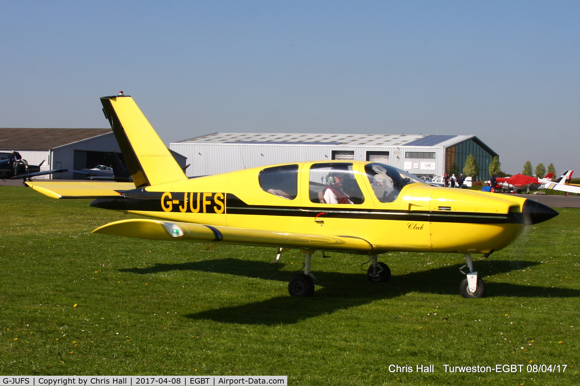 G-JUFS, 1989 Socata TB-9 Tampico Club C/N 928, at The Beagle Pup 50th anniversary celebration fly in
