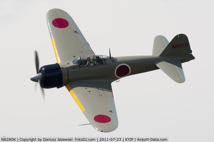 N8280K, 1941 Nakajima A6M2 Model 21 C/N 1498, Nakajima A6M2 Model 21 Zero CN 1498, NX8280K