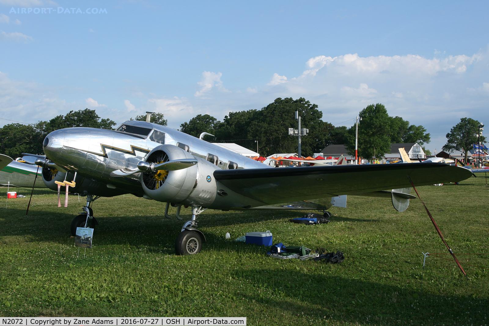 N2072, 1936 Lockheed 12A Electra Junior C/N 1208, 2016 EAA AirVenture - Oshkosh, Wisconsin