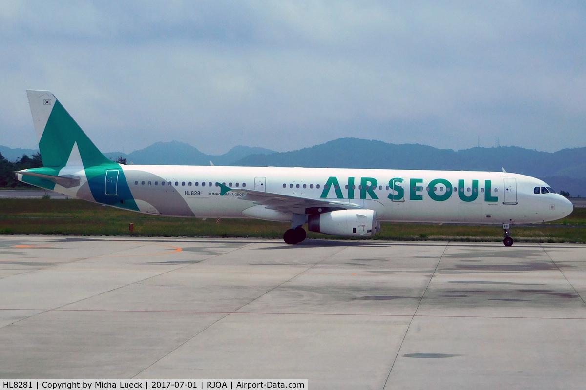 HL8281, 2013 Airbus A321-231 C/N 5774, At Hiroshima