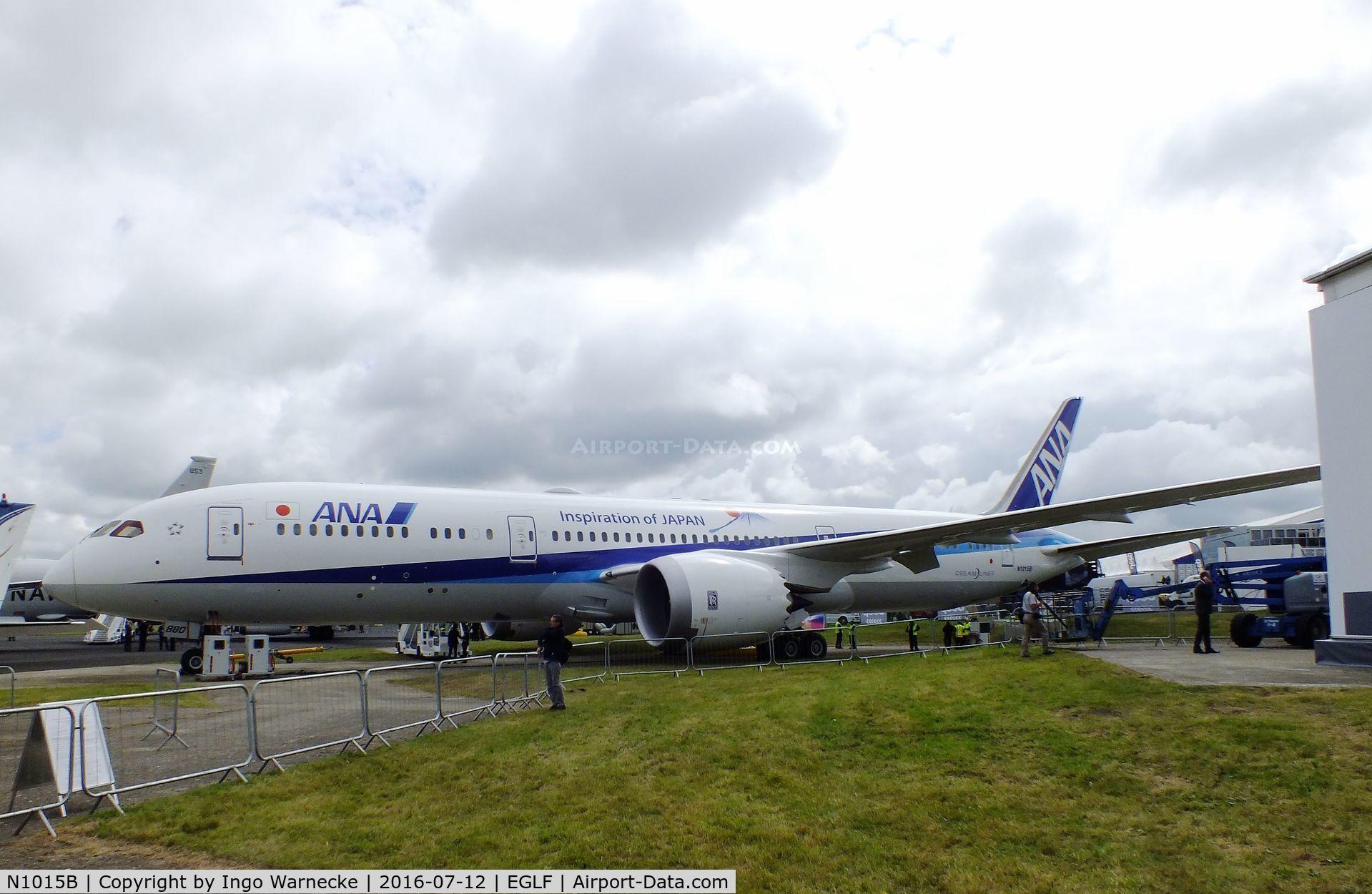 N1015B, 2016 Boeing 787-9 Dreamliner C/N 34533, Boeing 787-9 of All Nippon Airways at Farnborough International 2016