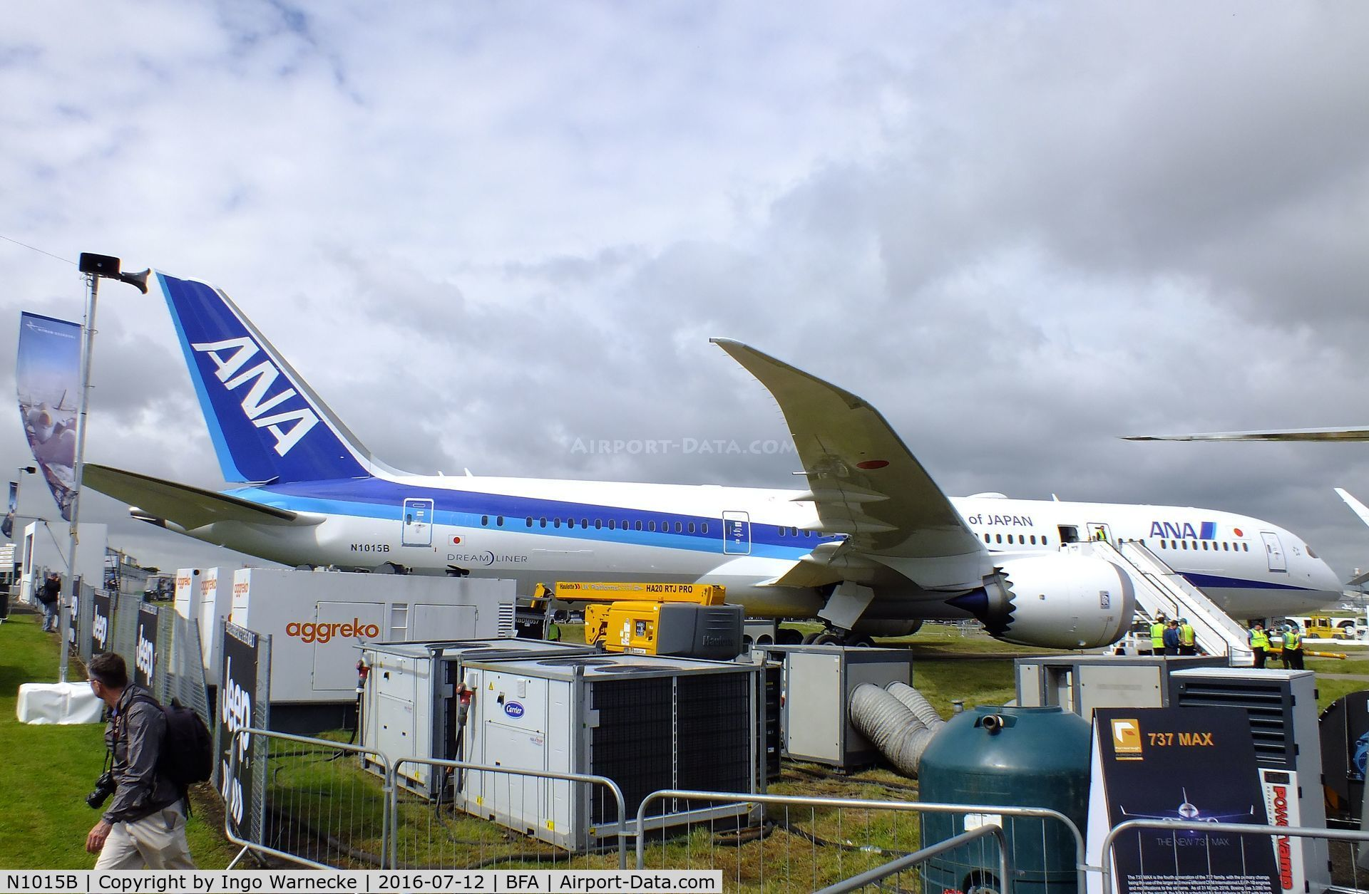 N1015B, 2016 Boeing 787-9 Dreamliner C/N 34533, Boeing 787-9 of All Nippon Airways at Farnborough International 2016