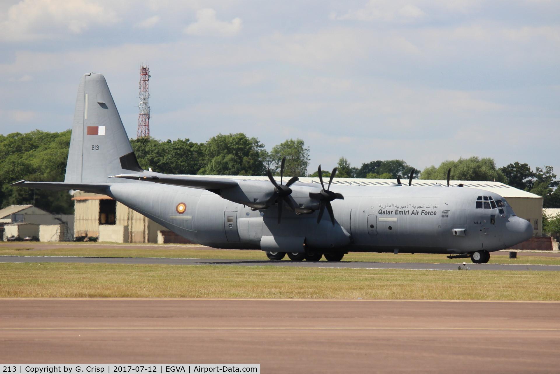 213, 2011 Lockheed Martin C-130J-30 Super Hercules C/N 382-5668, RAF Fairford, UK