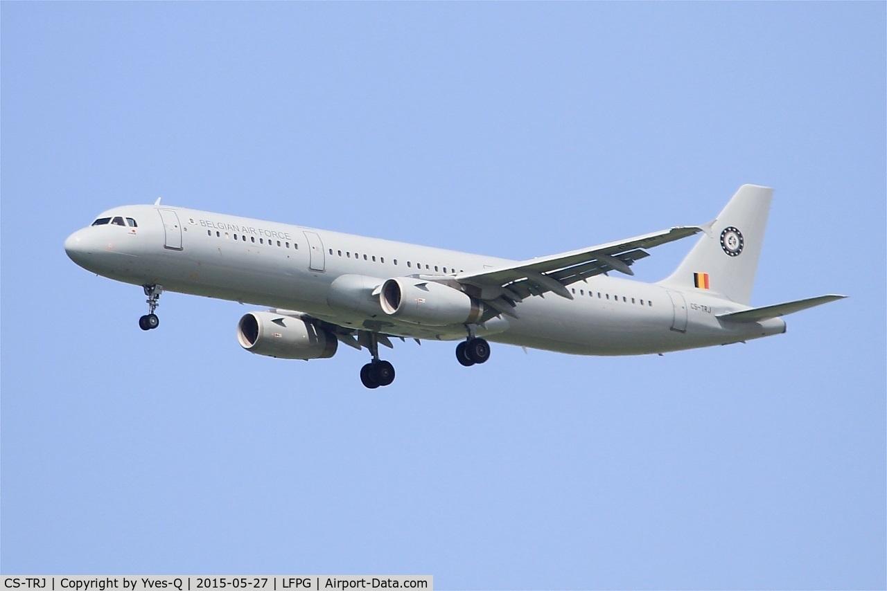 CS-TRJ, 1999 Airbus A321-231 C/N 1004, Belgian Air Force Airbus A321-231, Short approach rwy 27R, Paris-Roissy Charles De Gaulle airport (LFPG-CDG)