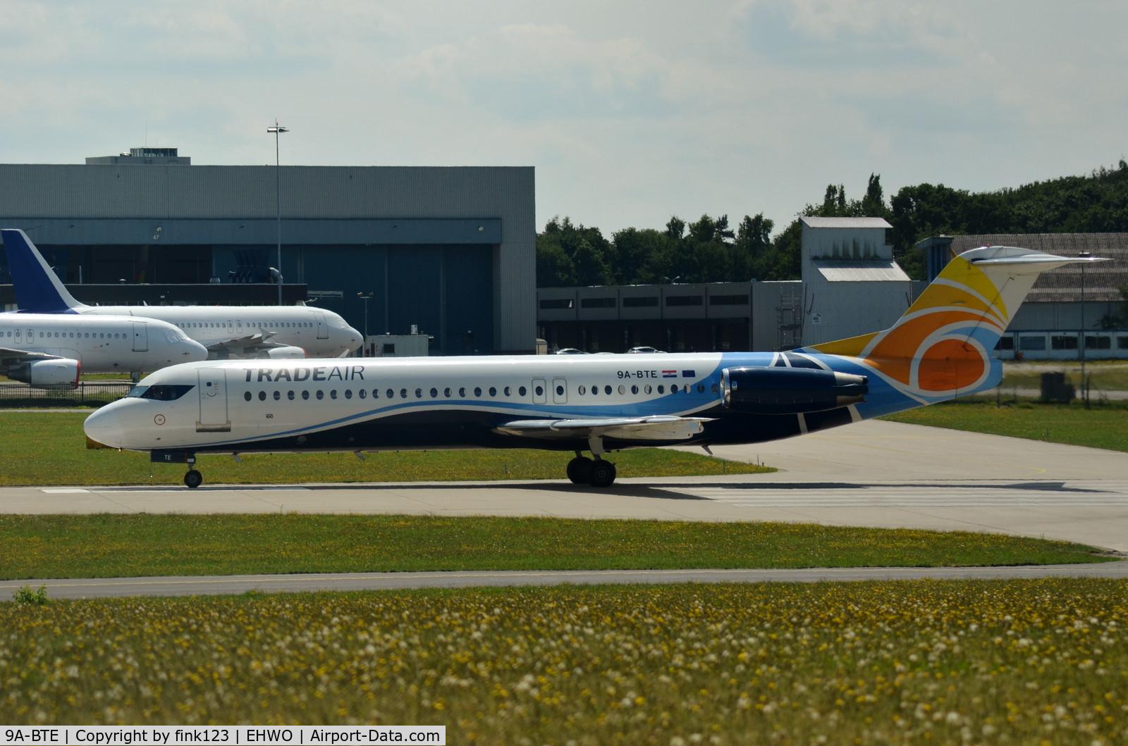 9A-BTE, 1992 Fokker 100 (F-28-0100) C/N 11416, TRADE AIR F100