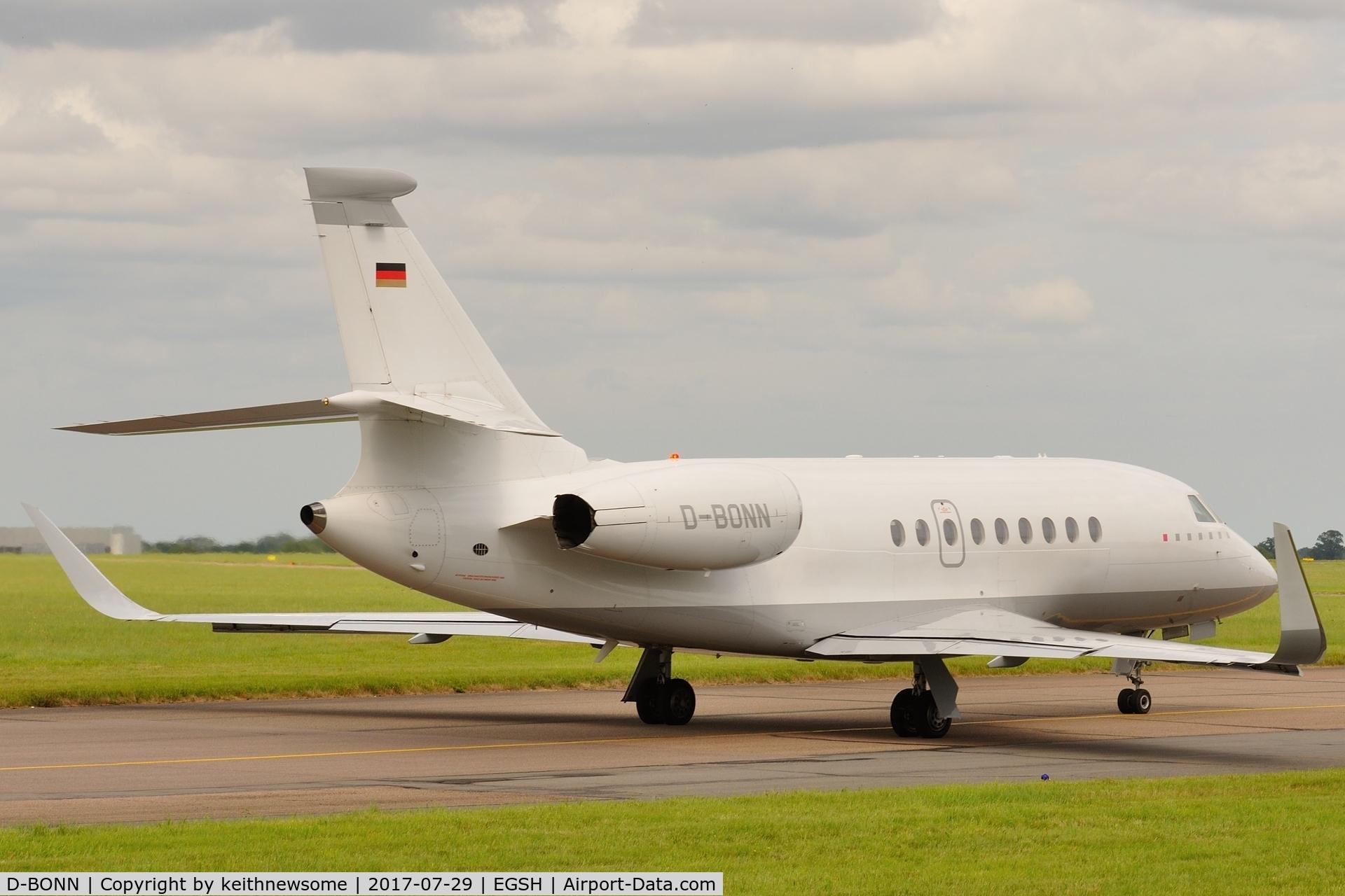 D-BONN, 2007 Dassault Falcon 2000EX C/N 118, Leaving for Cologne / Bonn.