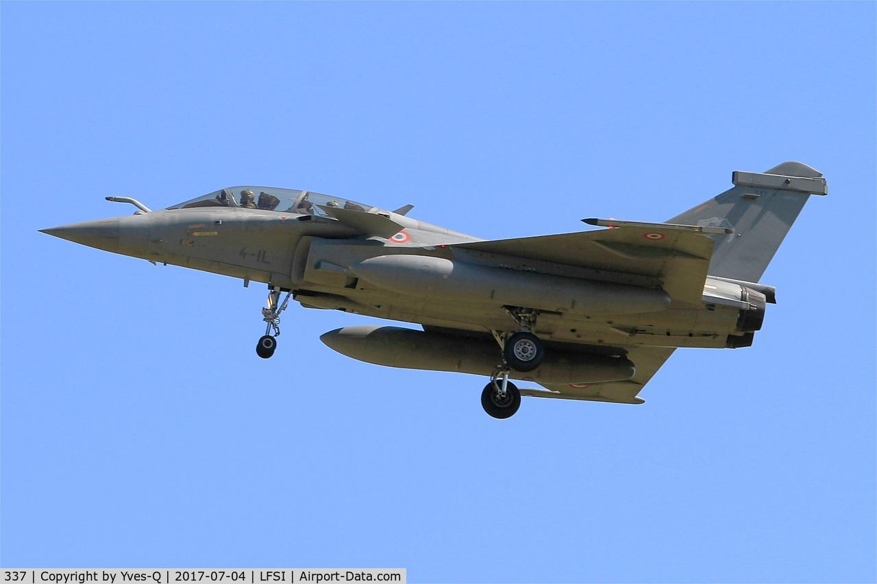 337, 2013 Dassault Rafale B C/N 337, Dassault Rafale B, Short approach rwy 29, St Dizier-Robinson Air Base 113 (LFSI)
