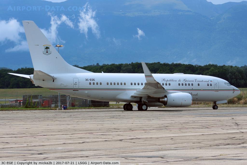 3C-EGE, Boeing 737-7FB BBJ C/N 33367, Parked