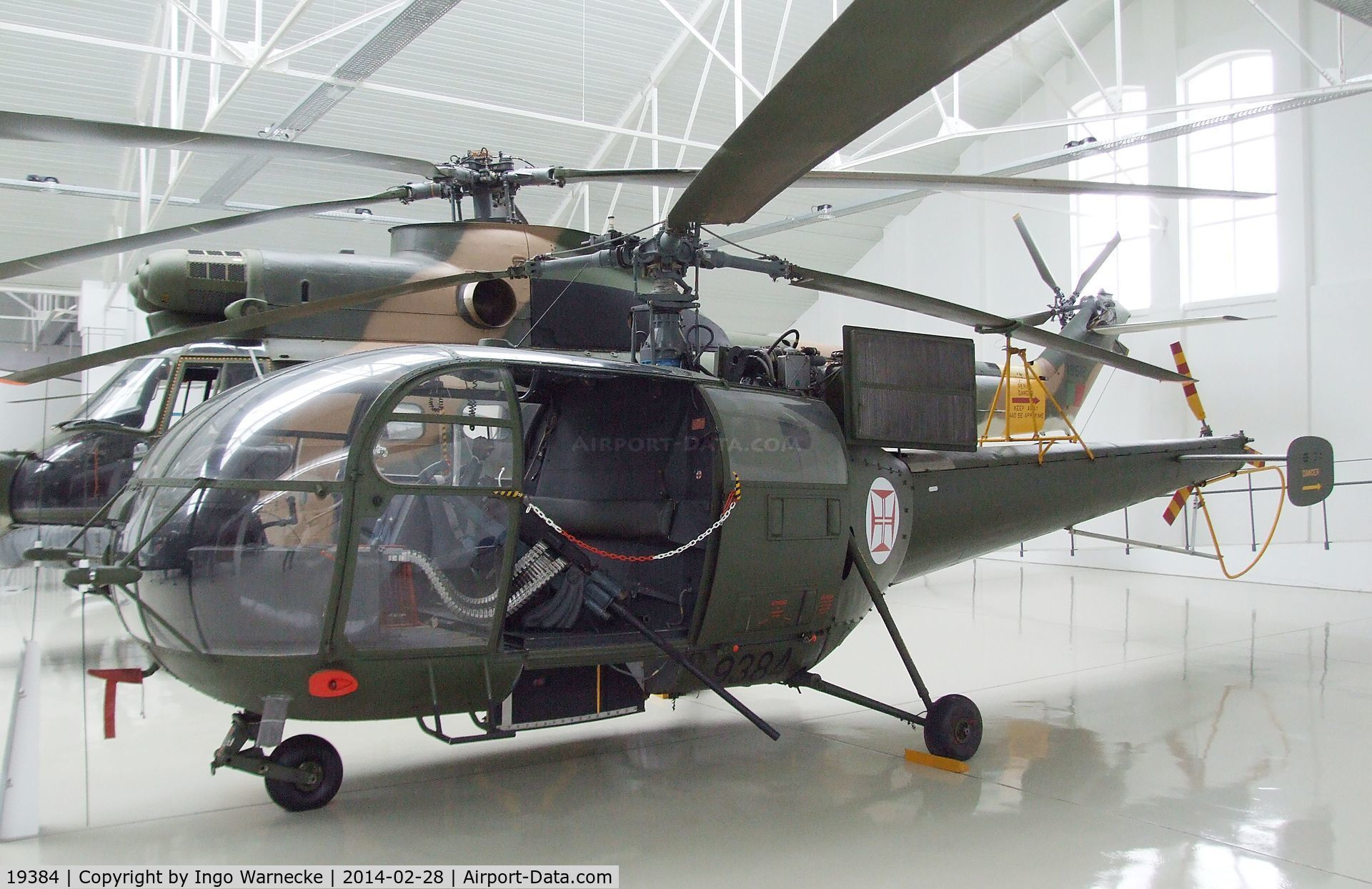 19384, Sud Aviation SE-3160 Alouette III C/N 1855, Sud-Est SE.3160 Alouette III gunship at the Museu do Ar, Sintra