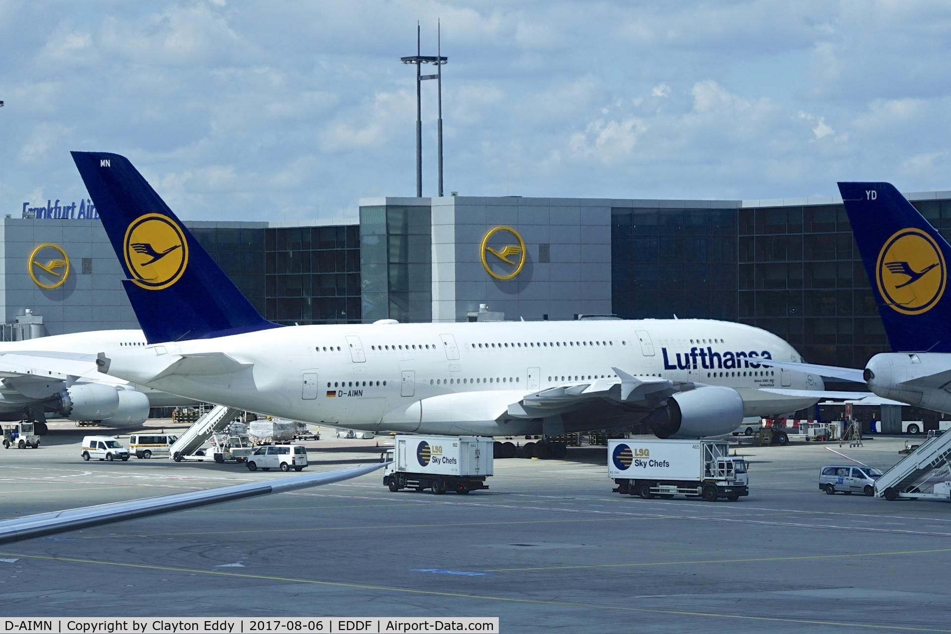 D-AIMN, 2014 Airbus A380-841 C/N 177, Frankfurt Airport. 2017.