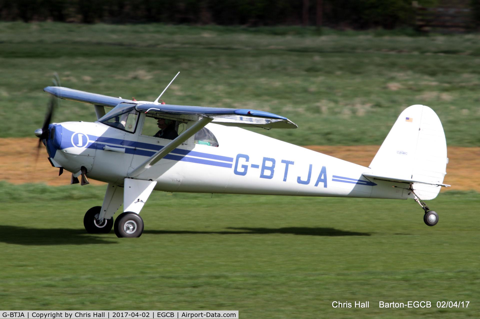 G-BTJA, 1947 Luscombe 8E Silvaire C/N 5037, at Barton