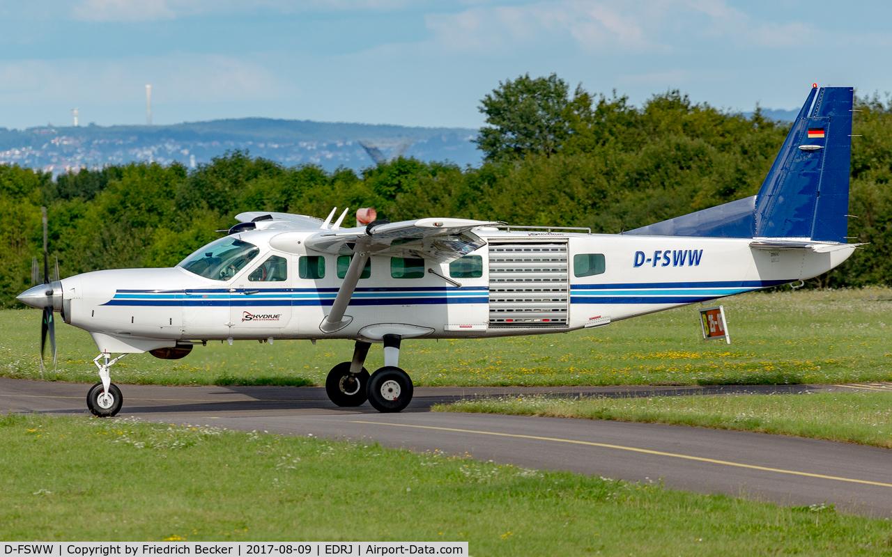 D-FSWW, 1997 Cessna 208B Grand Caravan C/N 208B0639, taxying to the fuel station