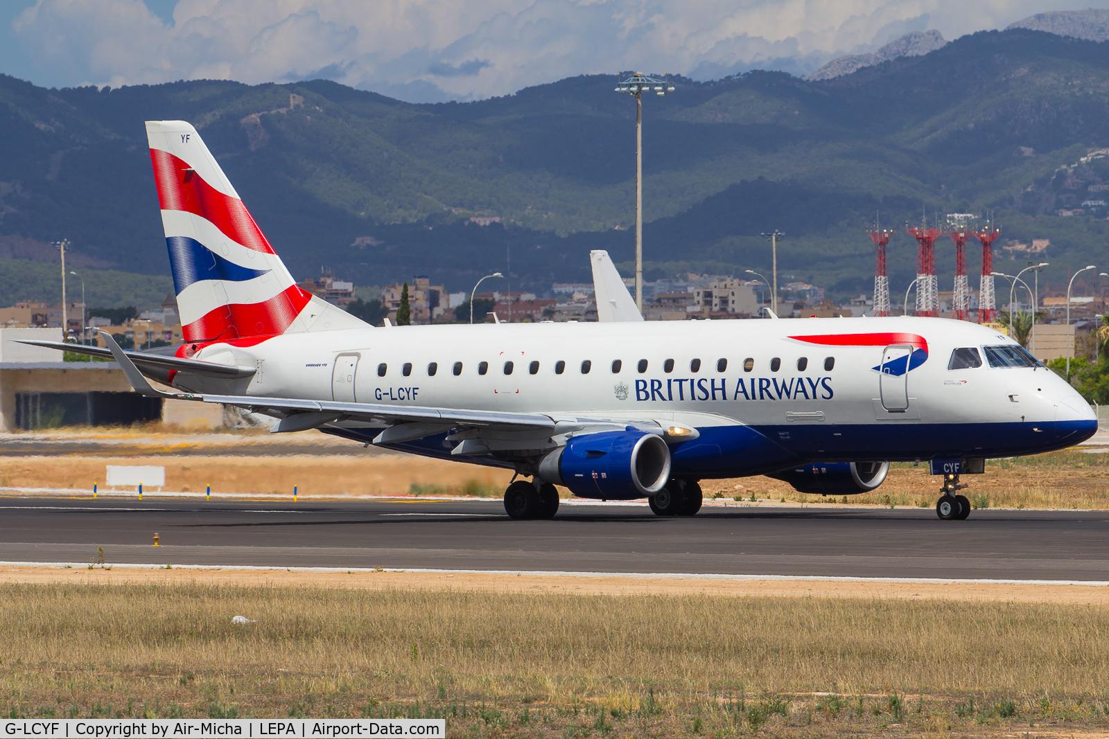 G-LCYF, 2009 Embraer 170STD (ERJ-170-100STD) C/N 17000298, BA CityFlyer