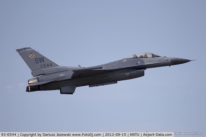 93-0544, 1993 General Dynamics F-16CJ Fighting Falcon C/N CC-179, F-16CJ Fighting Falcon 93-0544 SW from 78th FS
