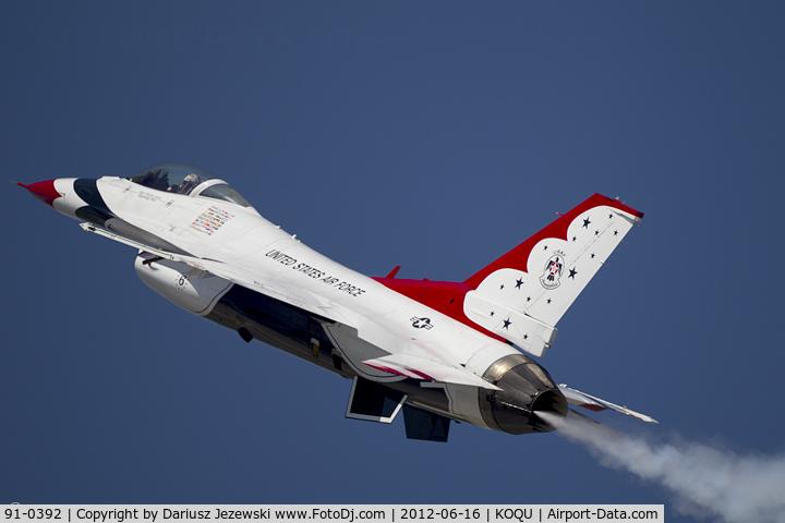 91-0392, 1993 General Dynamics F-16C Fighting Falcon C/N CC-90, F-16CM Fighting Falcon 91-0392 6 from USAF Thunderbirds  Nellis AFB, NV
