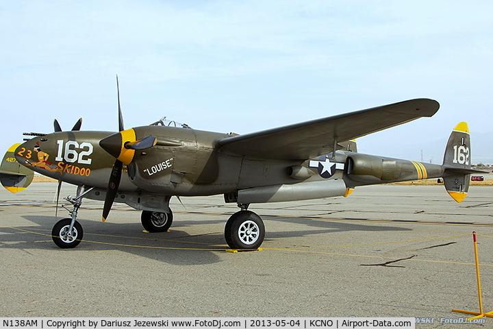 N138AM, 1943 Lockheed P-38J Lightning C/N 44-23314, Lockheed P-38J Lightning