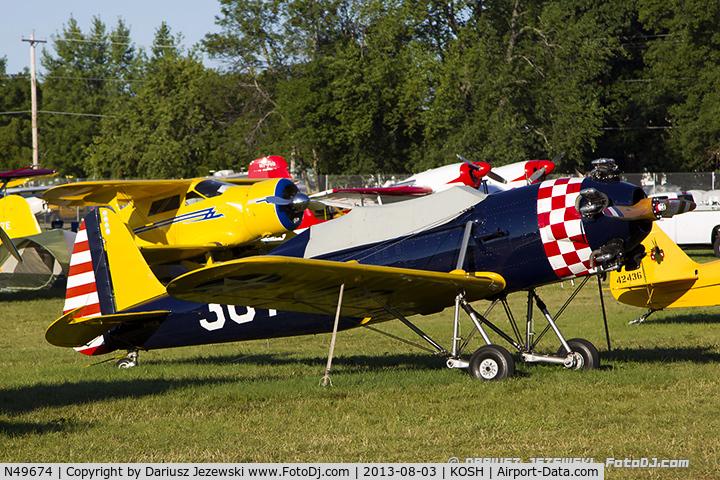 N49674, 1941 Ryan Aeronautical ST3KR C/N 1396, Ryan Aeronautical ST3KR  C/N 1396, N49674