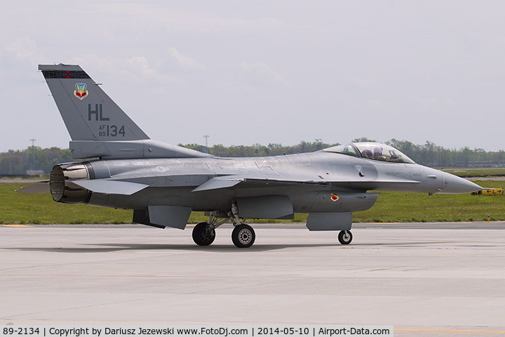 89-2134, 1989 General Dynamics F-16CG Night Falcon C/N 1C-287, F-16CM Fighting Falcon 89-2134 HL from 421st FS