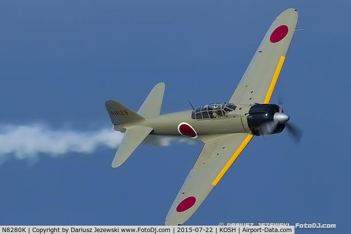 N8280K, 1941 Nakajima A6M2 Model 21 C/N 1498, Nakajima A6M2 Model 21  C/N 1498, NX8280K