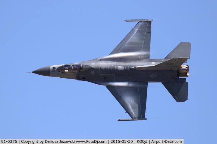 91-0376, 1991 General Dynamics F-16C Fighting Falcon C/N CC-74, F-16CJ Fighting Falcon 91-0376 SW from 77th FS