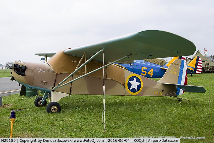 N29189, 1940 Aeronca 60-TF C/N 2510T, Aeronca 60-TF