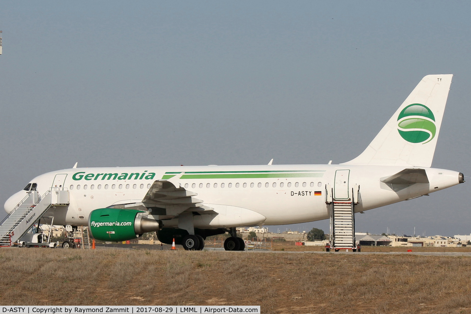 D-ASTY, 2008 Airbus A319-112 C/N 3407, A319 D-ASTY Germania