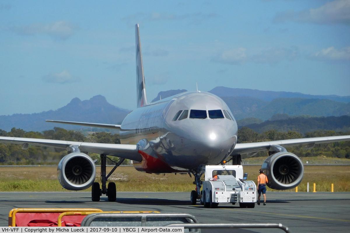 VH-VFF, 2012 Airbus A320-232 C/N 5039, At Coolangatta