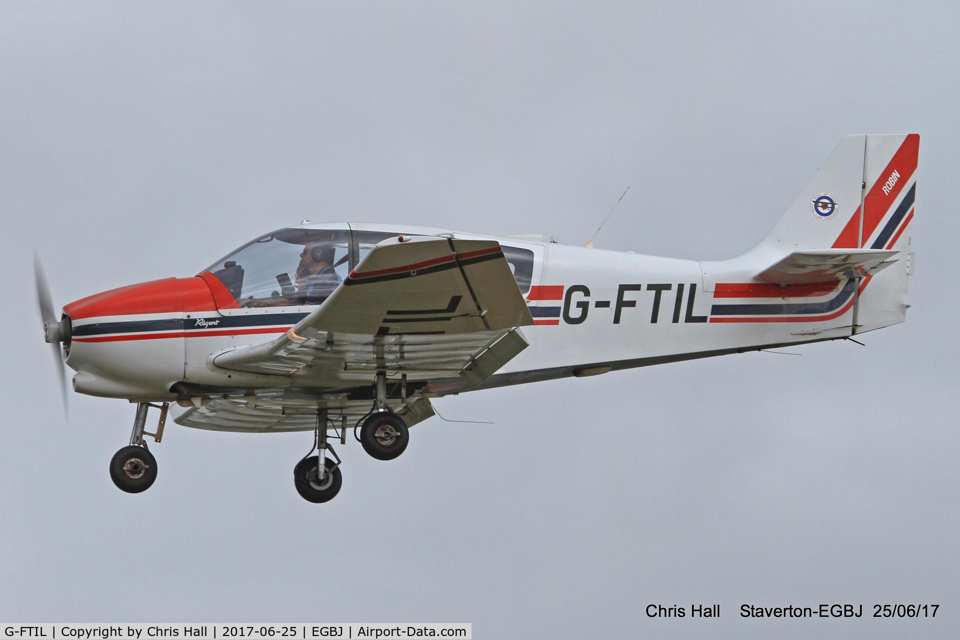 G-FTIL, 1988 Robin DR-400-180 Regent C/N 1825, Project Propeller at Staverton