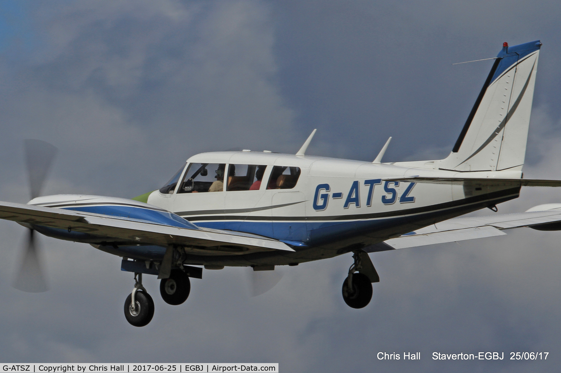 G-ATSZ, 1966 Piper PA-30 Twin Comanche C/N 30-1002, Project Propeller at Staverton