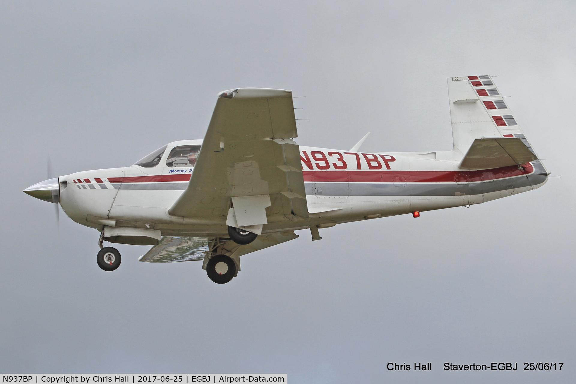 N937BP, 1987 Mooney M20J 201 C/N 24-3046, Project Propeller at Staverton