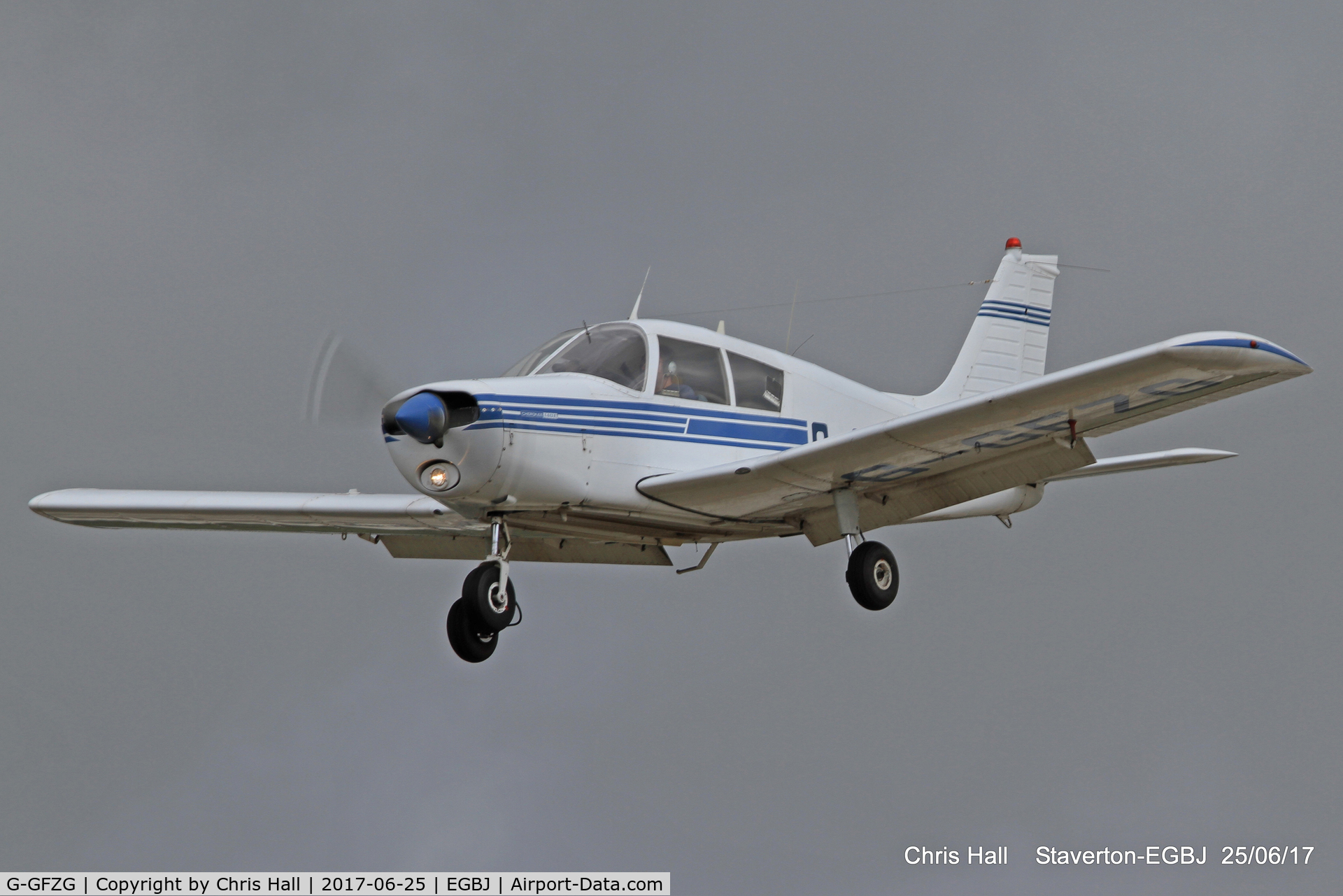 G-GFZG, 1973 Piper PA-28-140 Cherokee C/N 28-7225350, Project Propeller at Staverton