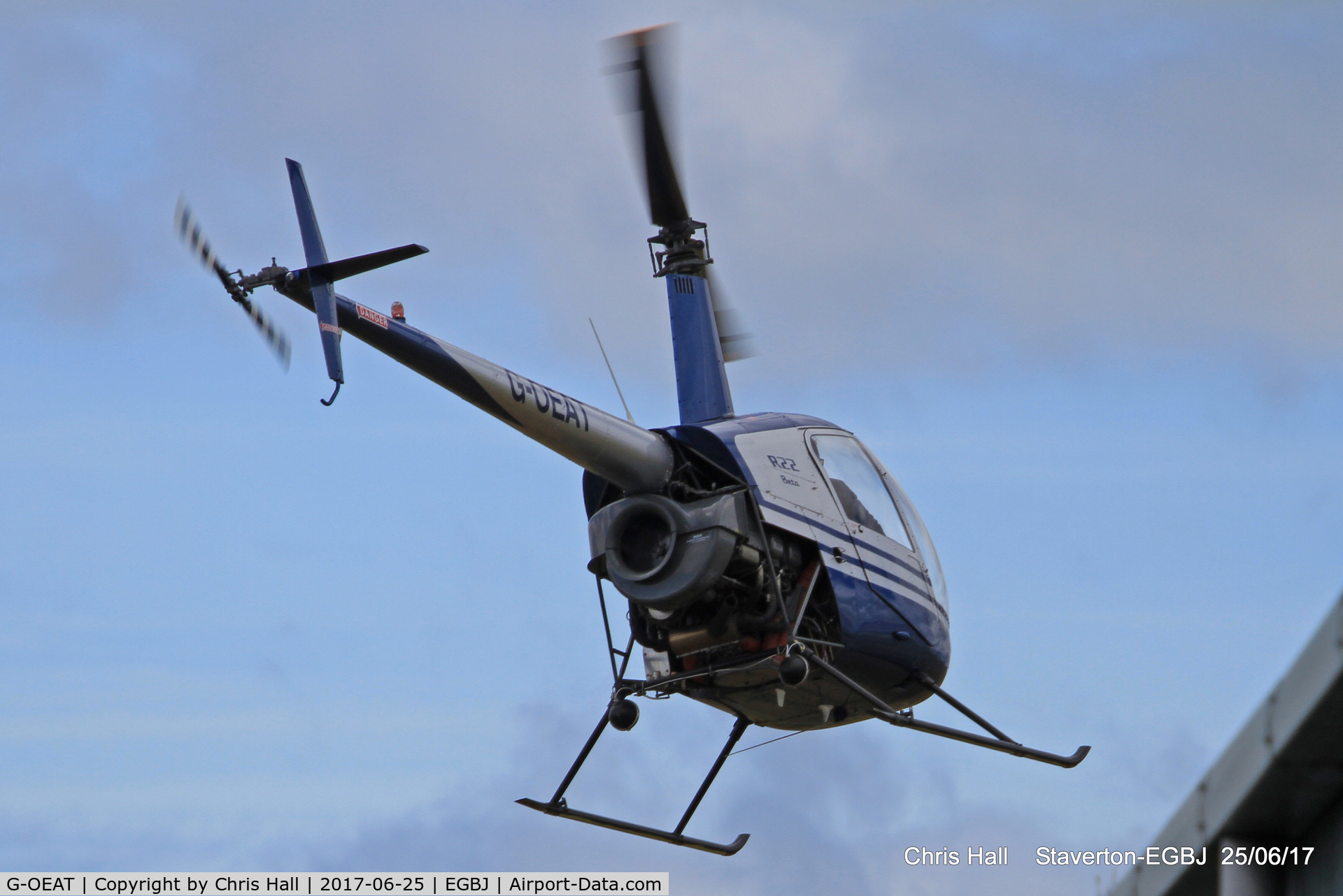 G-OEAT, 1987 Robinson R22 Beta C/N 0650, Project Propeller at Staverton