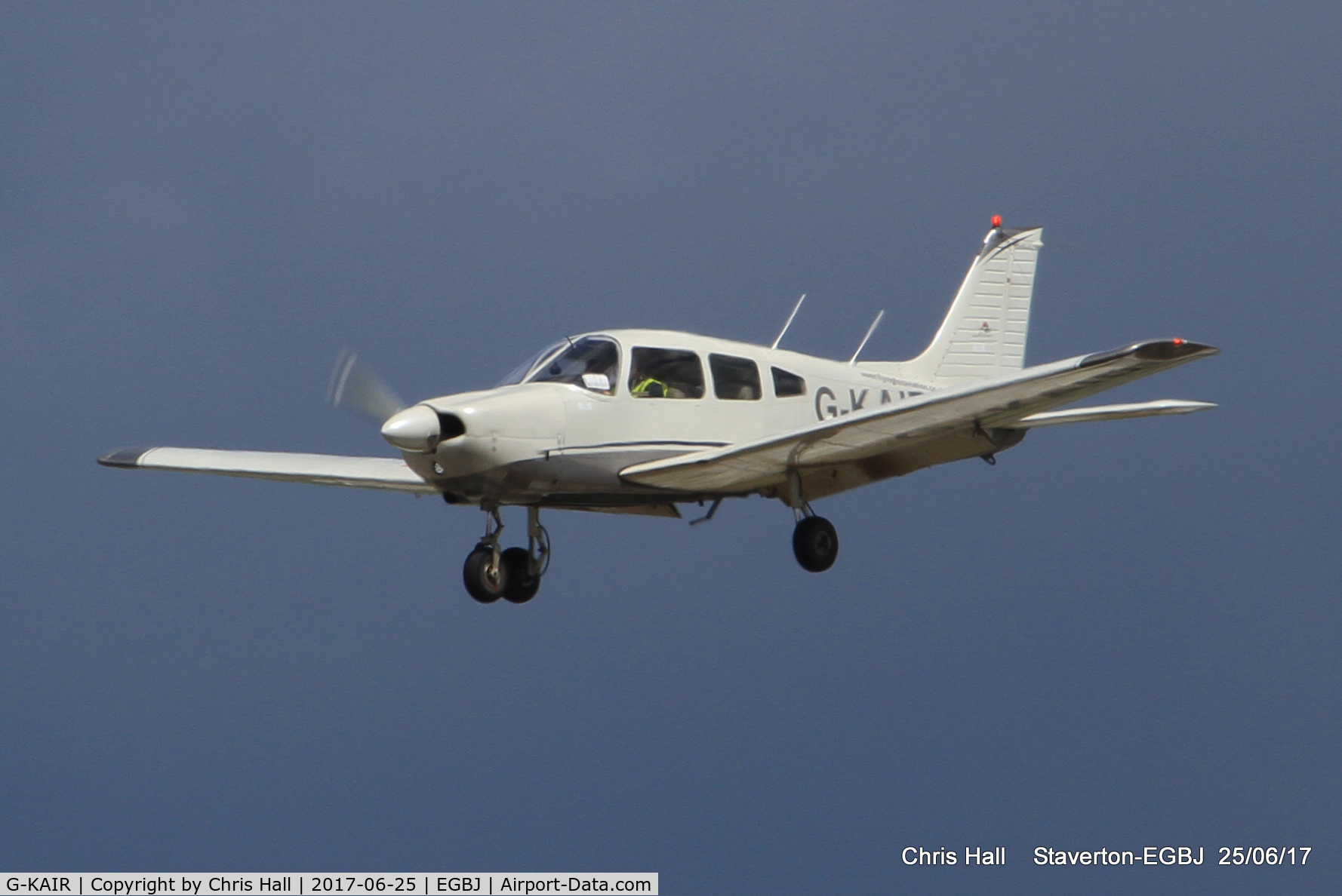 G-KAIR, 1978 Piper PA-28-181 Cherokee Archer II C/N 28-7990176, Project Propeller at Staverton