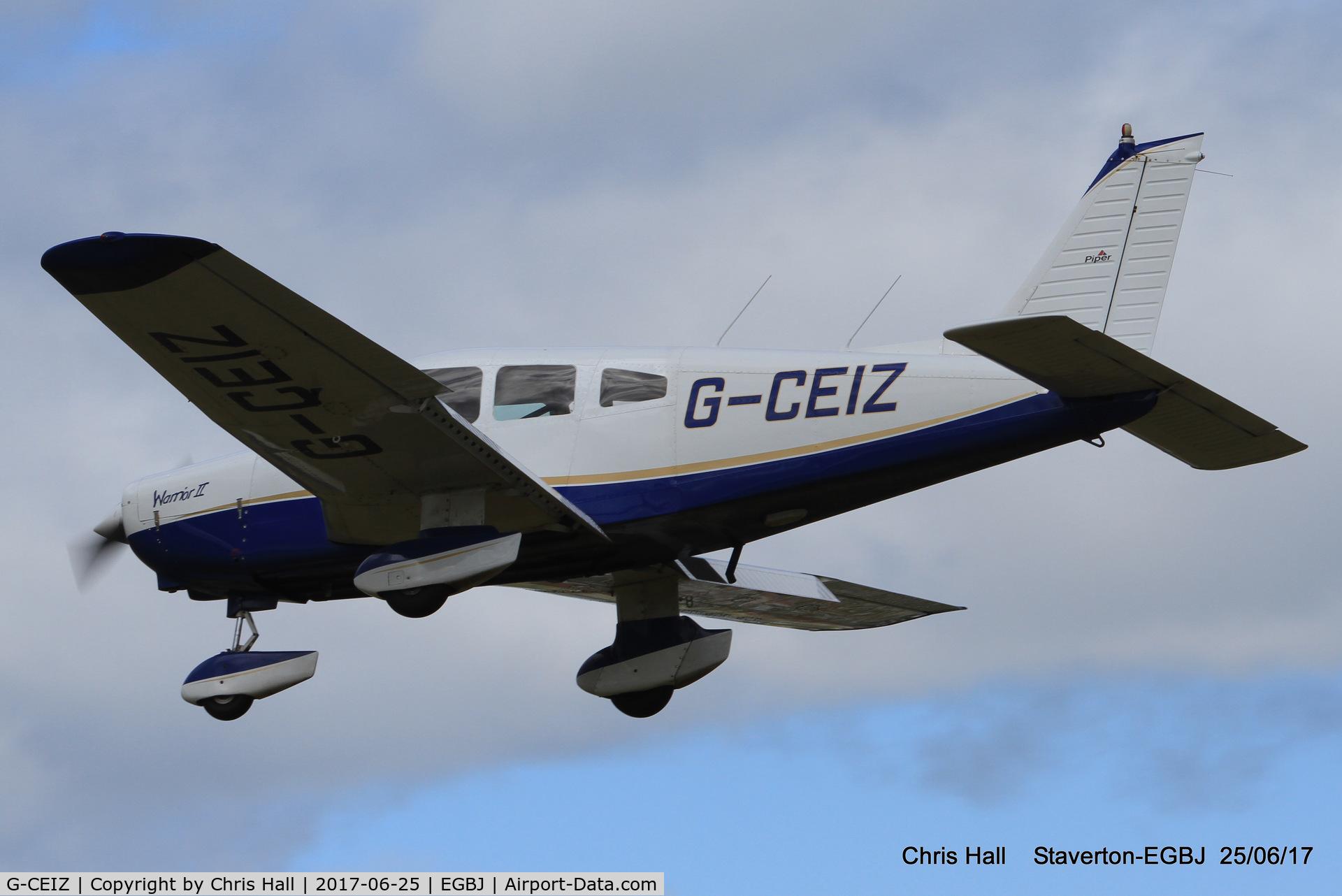 G-CEIZ, 1980 Piper PA-28-161 Cherokee Warrior II C/N 28-8116076, Project Propeller at Staverton