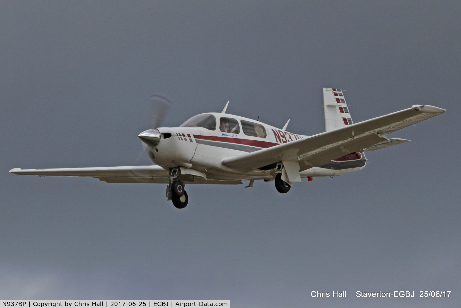 N937BP, 1987 Mooney M20J 201 C/N 24-3046, Project Propeller at Staverton