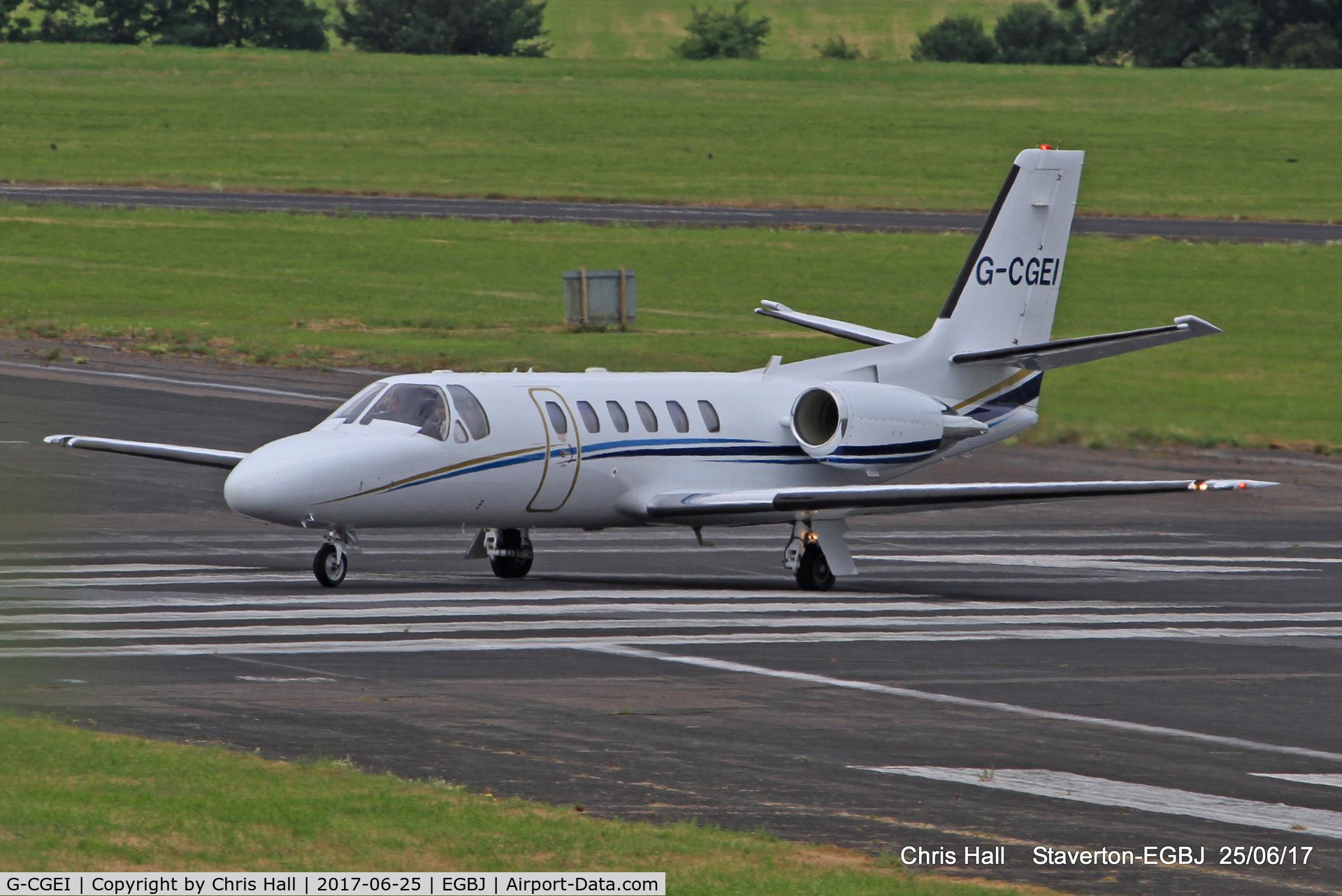 G-CGEI, 2000 Cessna 550 Citation Bravo C/N 550-0951, at Staverton
