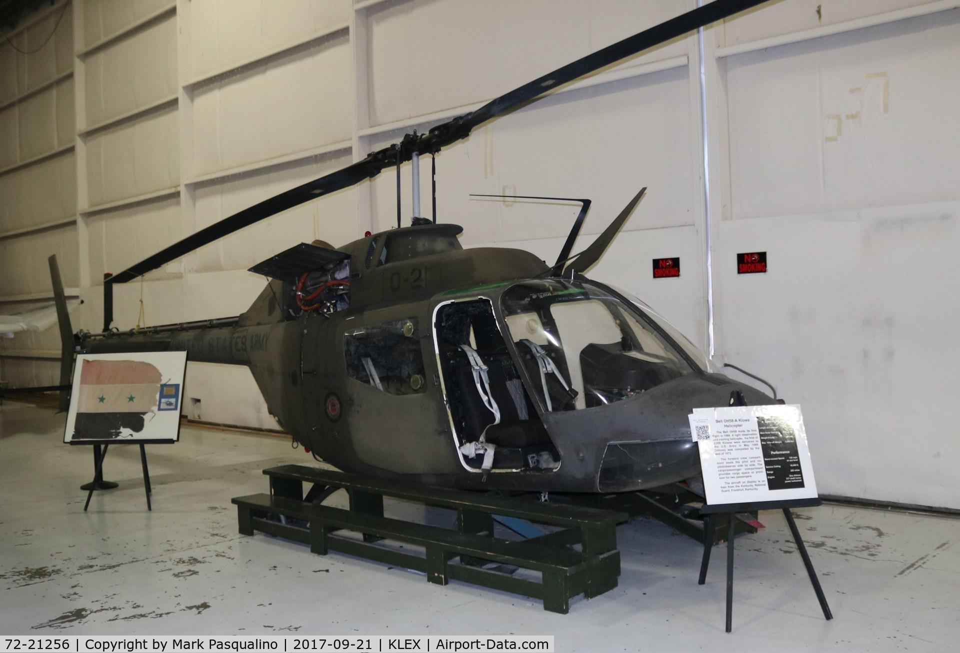 72-21256, 1972 Bell OH-58A Kiowa C/N 41922, Bell OH-58A