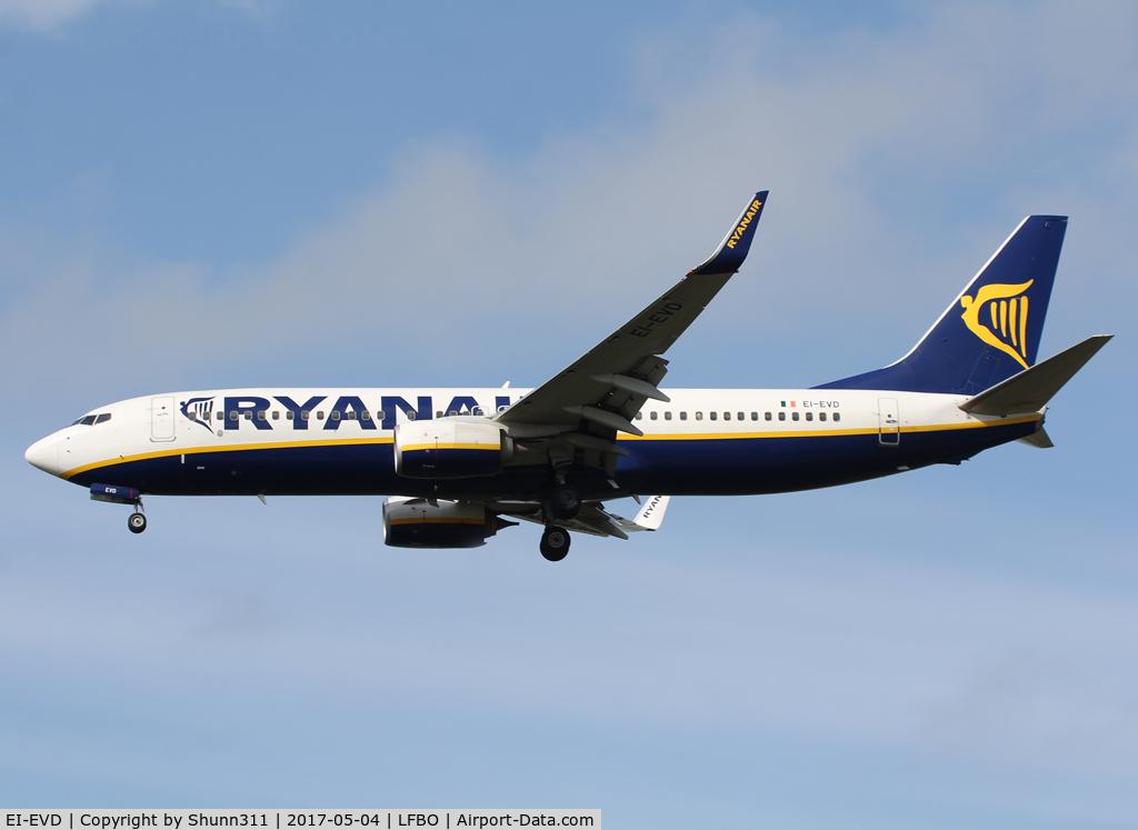 EI-EVD, 2012 Boeing 737-8AS C/N 40287, Landing rwy 14R