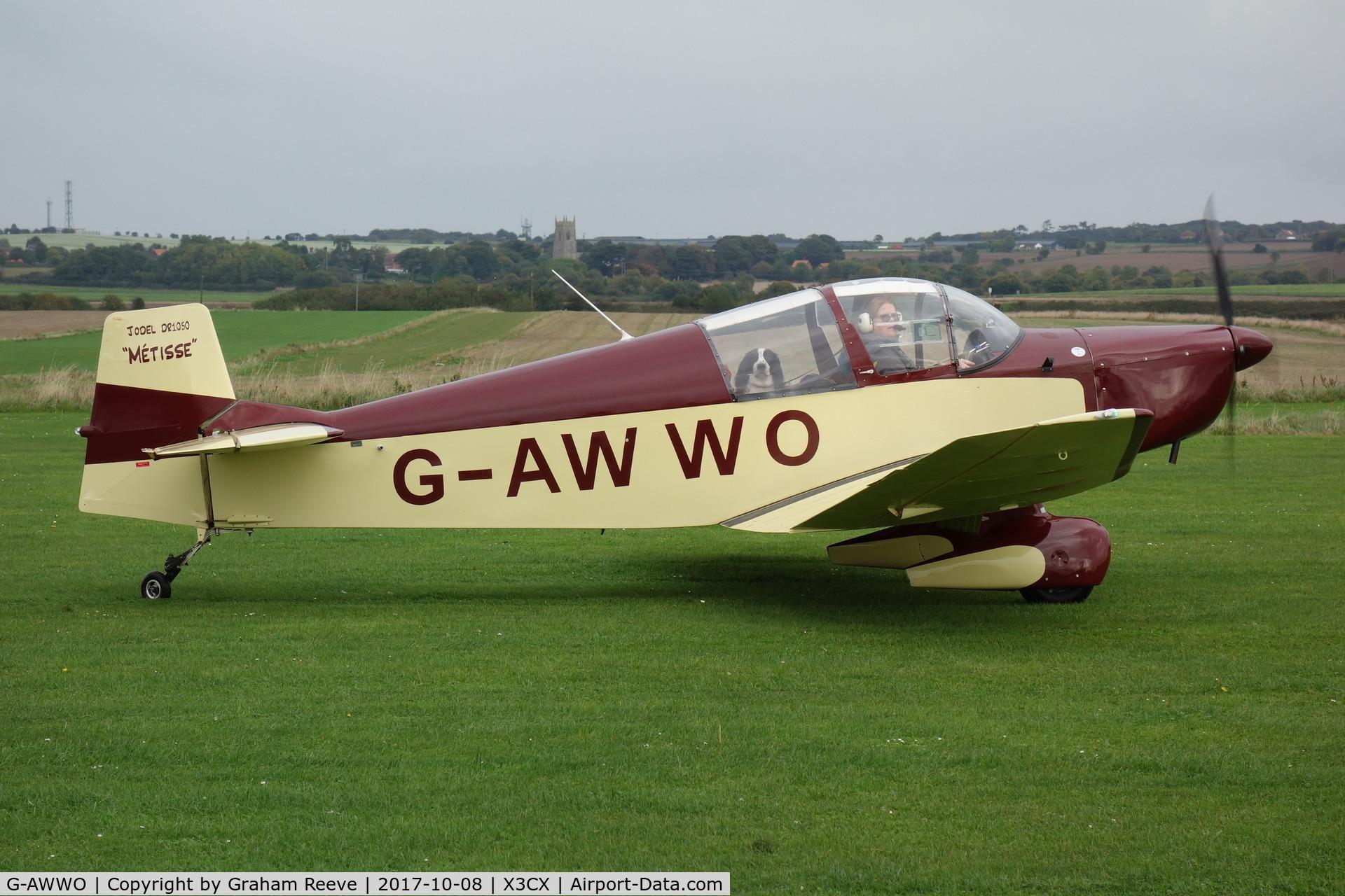 G-AWWO, 1964 CEA Jodel DR-1050 Sicile C/N 552, Just landed at Northrepps.